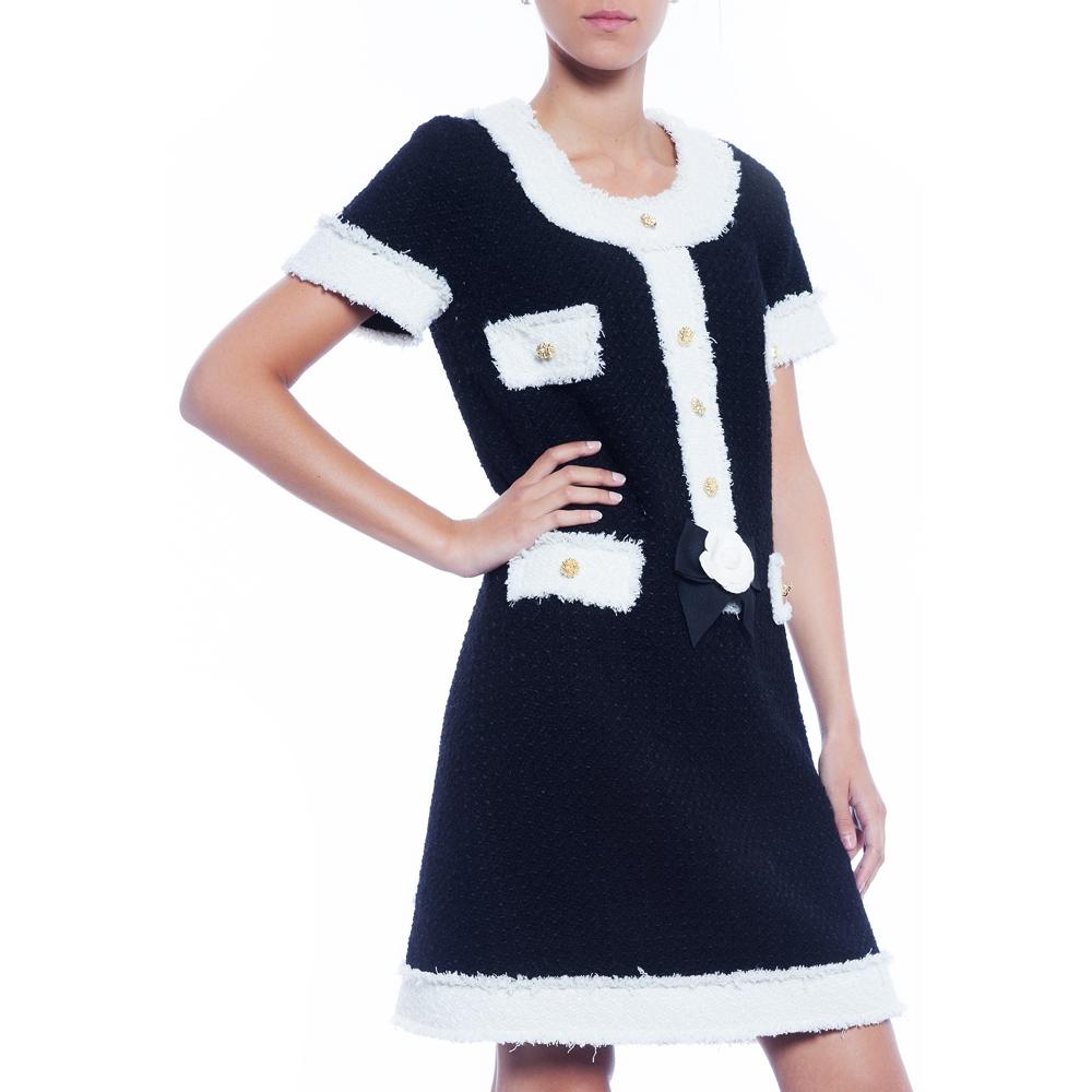 robe-en-tweed-noir-et-blanc-par-edward-achour