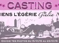 Casting pour l'égérie Giulia Notte